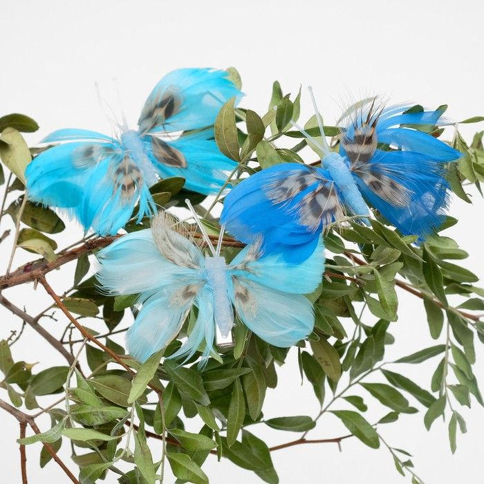 Декор бабочка 8 х 7 х 1 см в ассортименте
