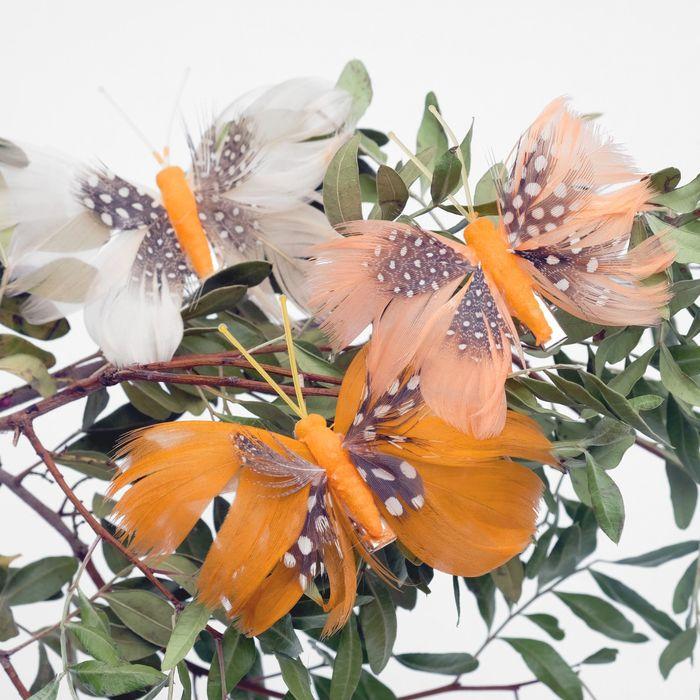 Декор бабочка 8 х 6 х 1 см в ассортименте