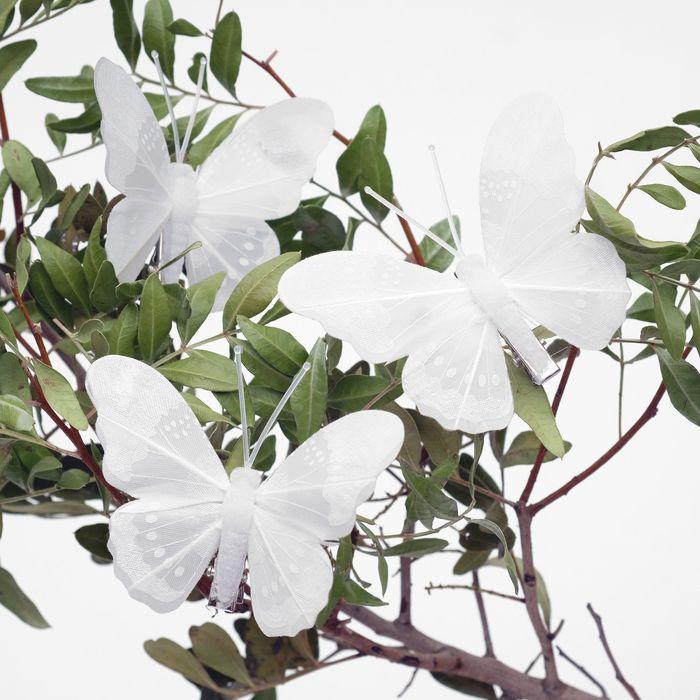 Декор бабочка 7,5 х 6 х 1 см в ассортименте
