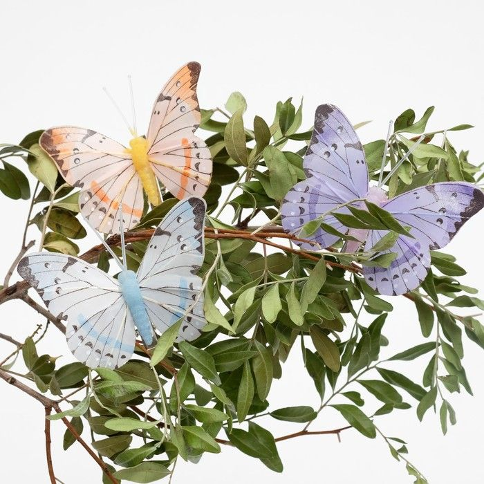 Декор бабочка 7,5 х 6,5 х 1 см в ассортименте