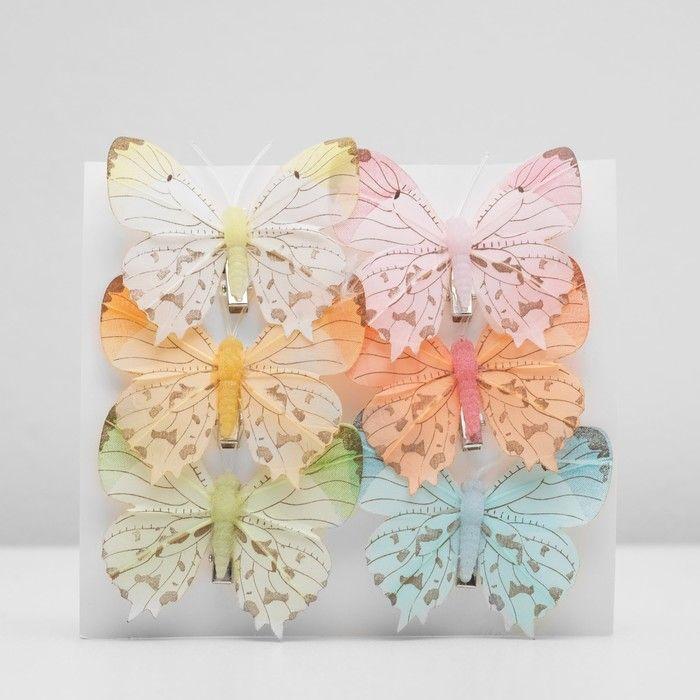 Декор бабочка 7,5 х 7 х 1 см в ассортименте