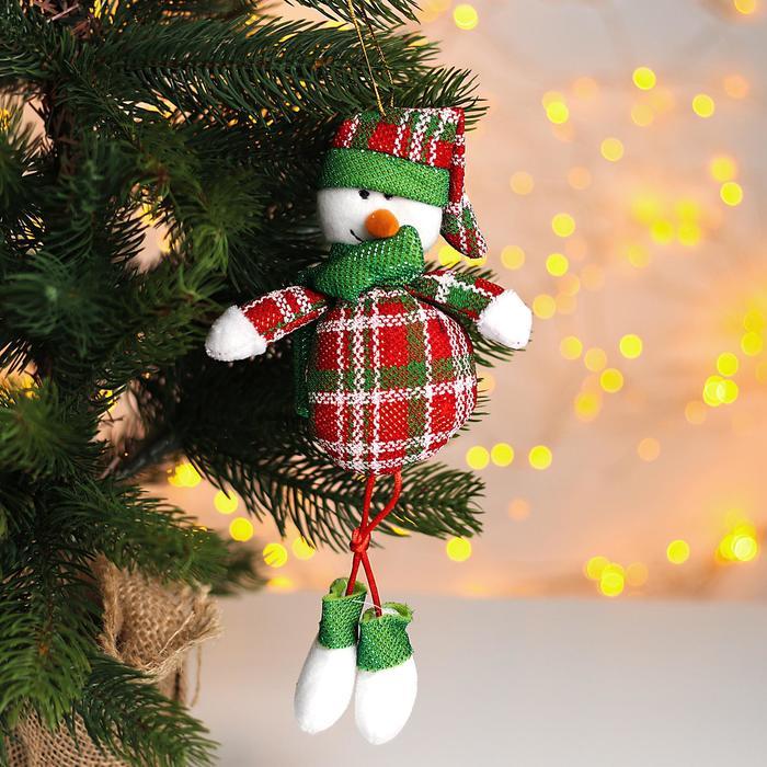 Мягкая игрушка «Снеговик», на подвесе
