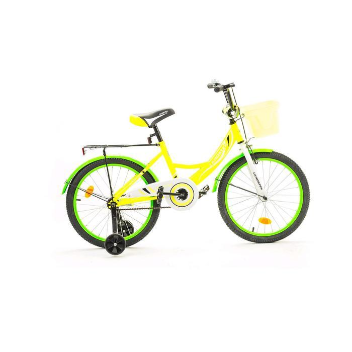 "Велосипед 20"" KROSTEK WAKE, цвет желтый"