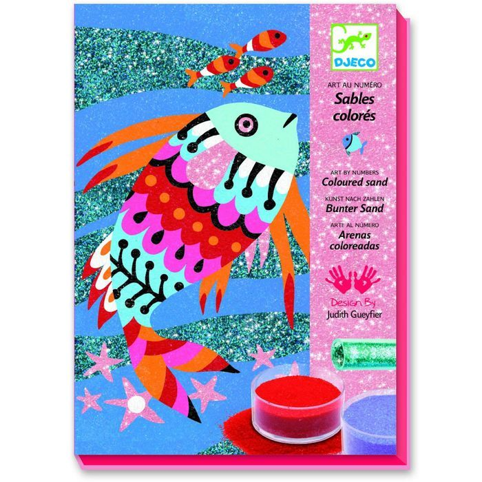 Картина песком «Радужные рыбки» 11 цветов песка