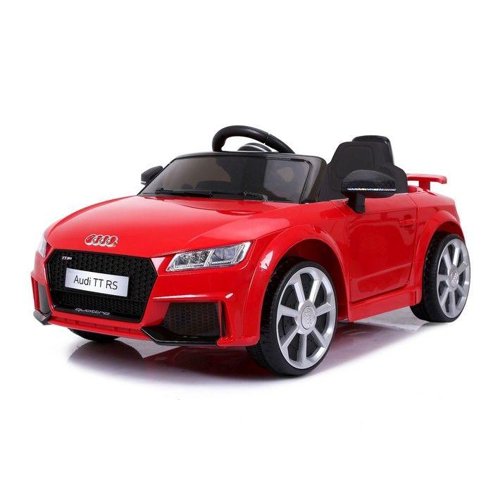 Электромобиль AUDI TT RS, цвет красный, EVA колеса, кожаное сидение