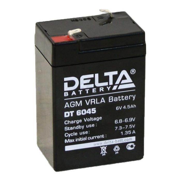 Аккумуляторная батарея Delta 4,5 Ач 6 Вольт DT 6045