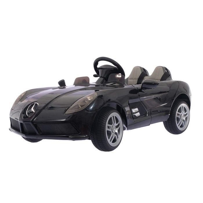Электромобиль MERCEDES-BENZ SLR McLaren New, окраска глянец черный, EVA колеса