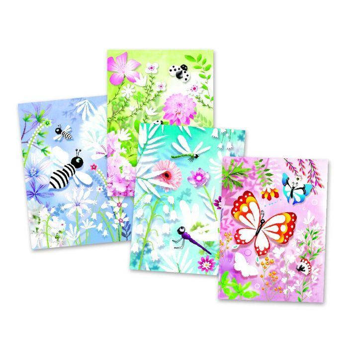 Раскраска «Блестящие бабочки»