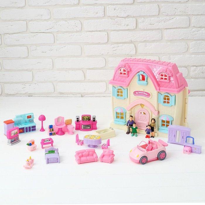 """Дом для кукол """"Большая семья"""" с мебелью и аксессуарами, световые и звуковые эффекты"""