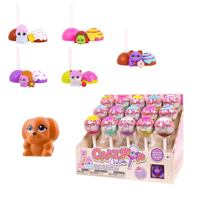 Игрушка в индивидуальной капсуле Cake Pop Cuties, 1 серия, 15 шт. в дисплее, 6 видов в ассортименте