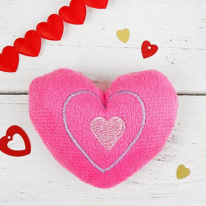 Мягкая игрушка-магнит «Сердечко», цвет розовый