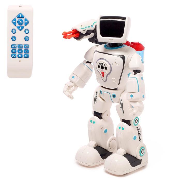 Робот радиоуправляемый, интерактивный «Кибер-защитник», световые и звуковые эффекты, стреляет