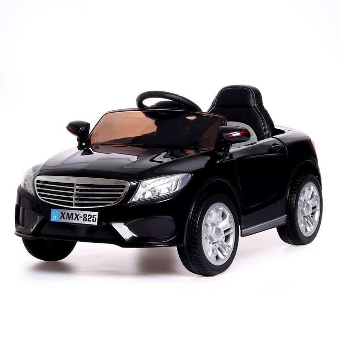 Электромобиль S CLASS, 2 мотора, EVA колёса, активная подвеска, кожаное сидение, цвет черный