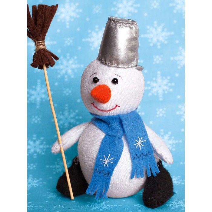 """Набор для создания игрушки из фетра """"Снеговик"""" 18,5 см"""