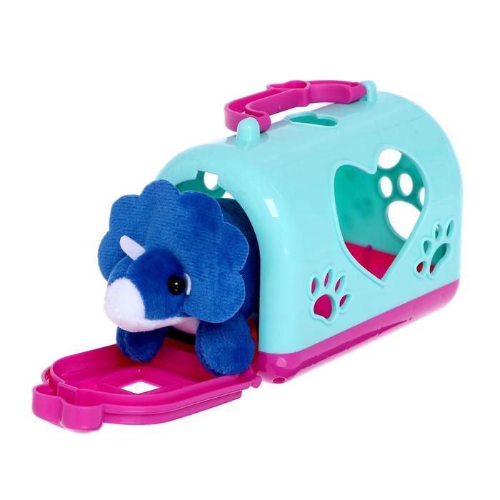 Игрушка мягконабивная «Малыш Дино» с переноской, в ассортименте