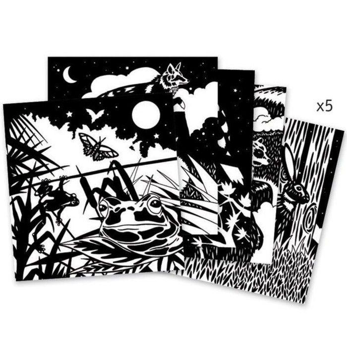 Бархатные раскраски «Лес»