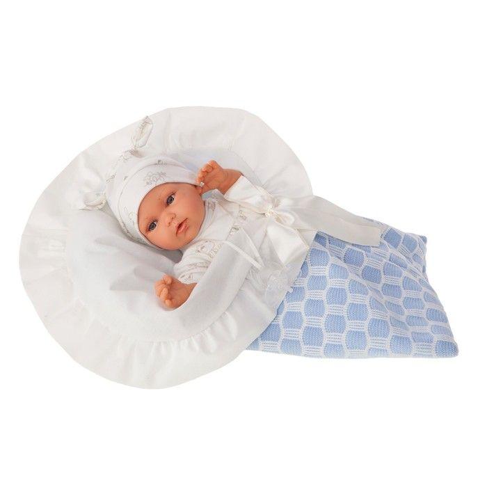 Кукла ANTONIO JUAN «Регина», в голубом, озвученная, 29 см