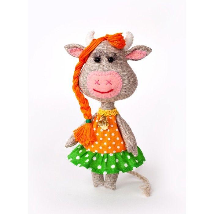 """Набор для создания текстильной игрушки серия """"Домовенок и компания"""" Корова Бурёнка"""