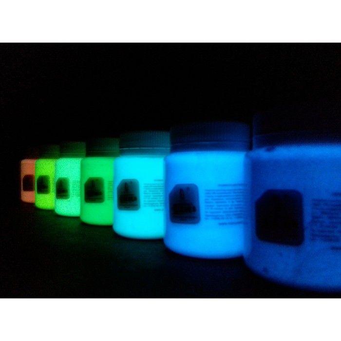 Краска акриловая люминесцентная, 80 мл LUXART Lumi жёлто-зелёный, жёлто-зелёное свечение