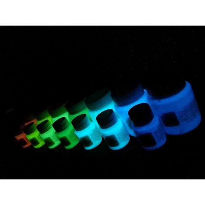 Краска акриловая люминесцентная, 80 мл LUXART Lumi небесно-голубой, небесно-голубое свечение