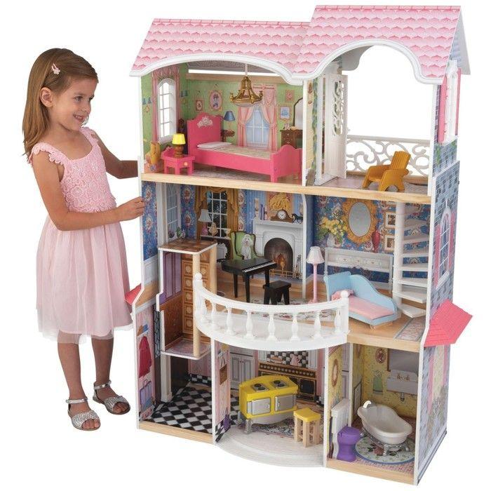 Винтажный кукольный дом с мебелью «Магнолия», 13 предметов