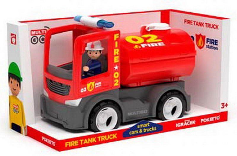 Пожарная автоцистерна с фигуркой водителя, пластмасса