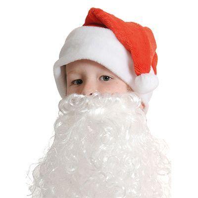 Колпак Новый Год с бородой, детский