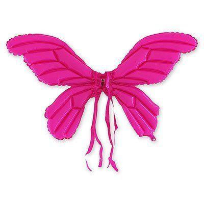 Крылья надувные Бабочка розовые