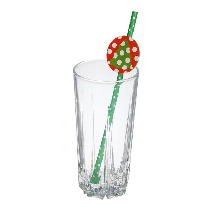 """Трубочка для коктейля """"Новый год"""", набор 20 шт."""