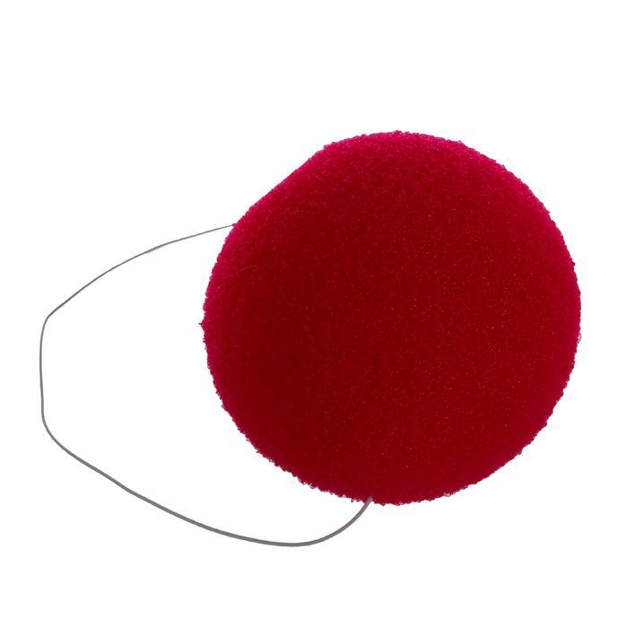 Нос на резинке, 6 см, цвет красный
