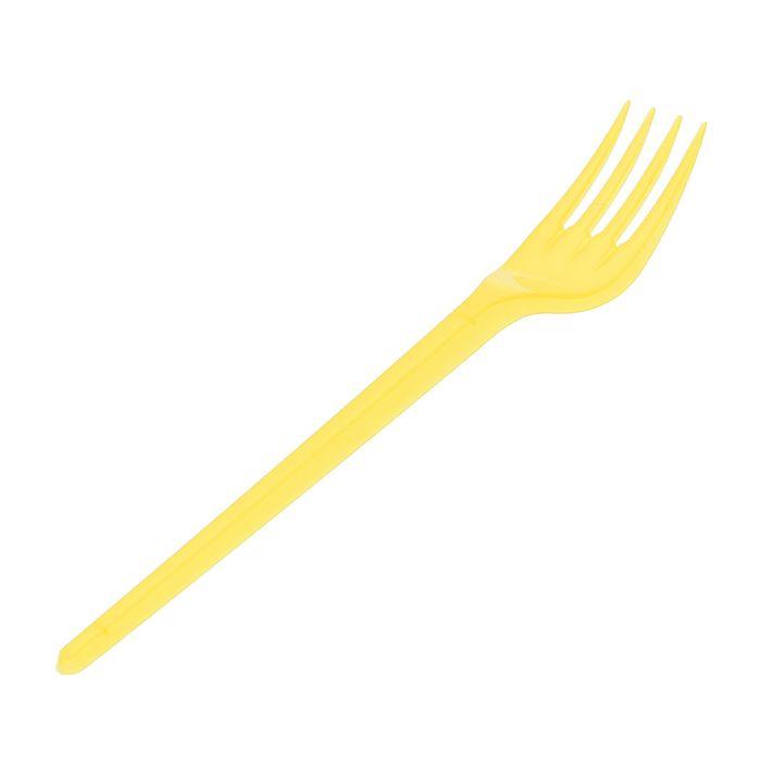 Набор вилок столовых 100 шт, цвет желтый