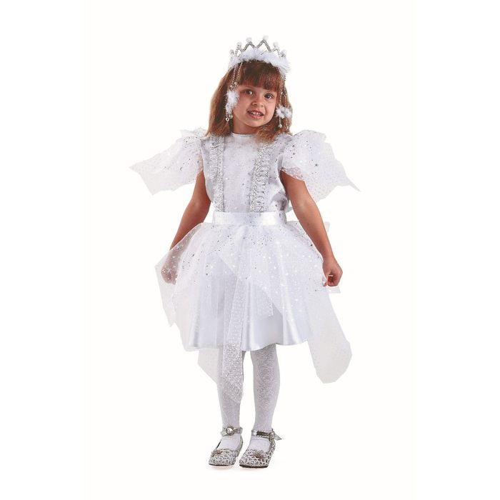"""Карнавальный костюм """"Снежинка серебряная"""", текстиль, размер 32"""