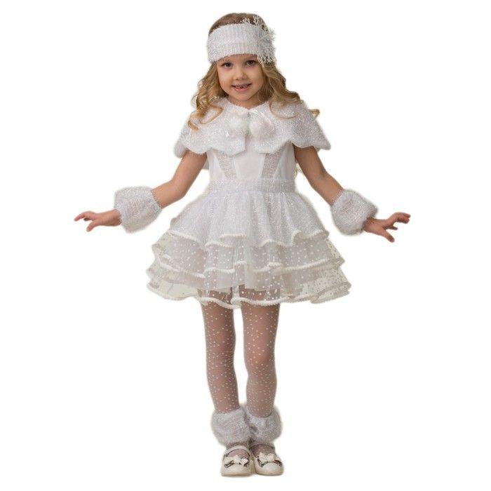 """Карнавальный костюм """"Снежинка Снеговичка"""", размер 32"""