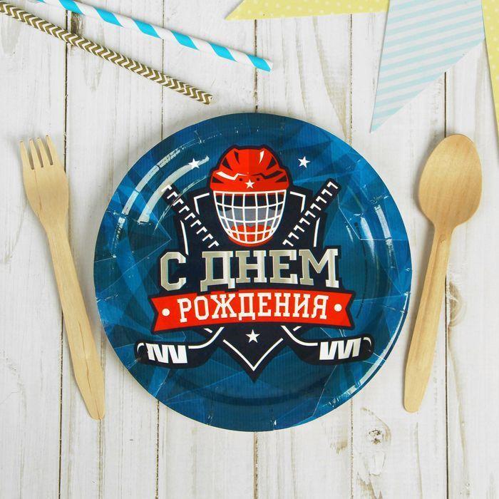 """Тарелка бумажная """"Хоккей"""""""