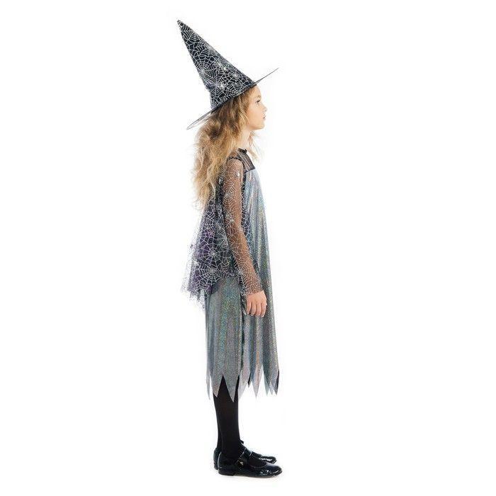 """Карнавальный костюм """"Ведьма"""", платье, шляпа, рост 110 см 85205"""