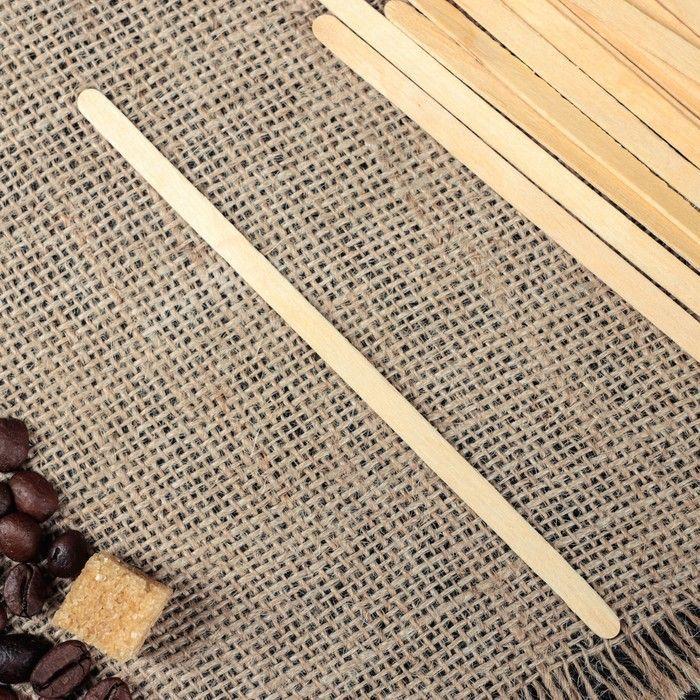 Палочка размешиватель деревянная, 140 х 6 х 1,3 мм