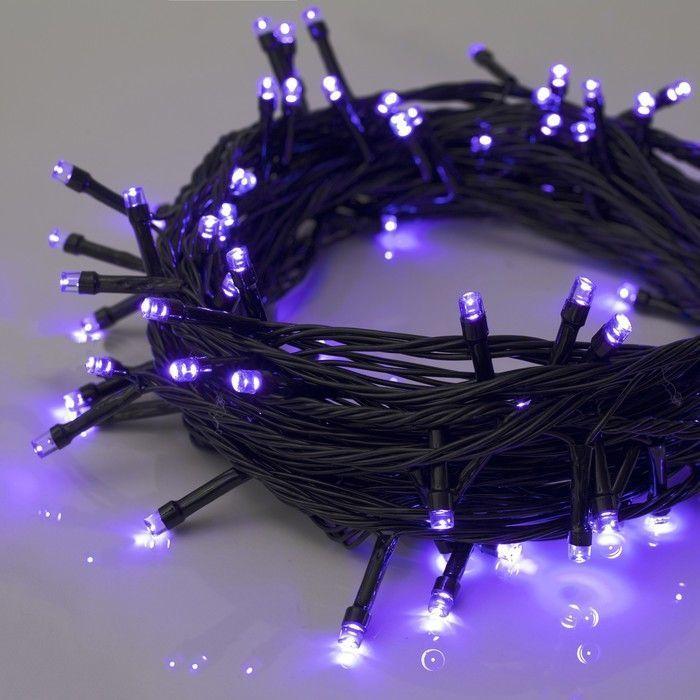 НИТЬ, 10 м, Н.Т. LED-100-220V, 8 режимов, ФИОЛЕТ
