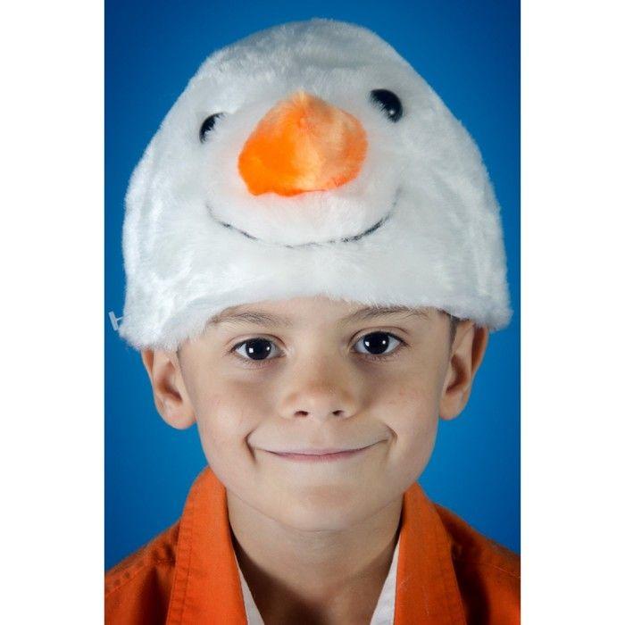 Карнавальная шапочка «Снеговик»