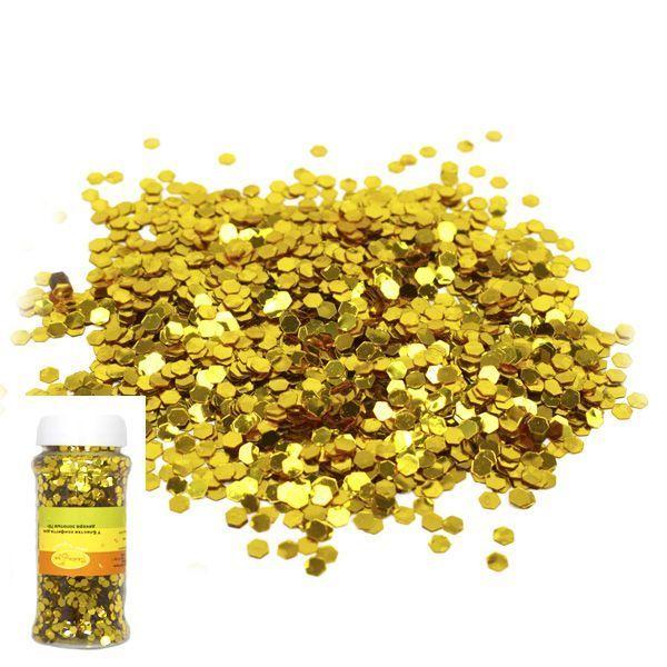 Блестки конфетти для декора золотые 70г