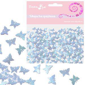 Конфетти перламутровое Бабочки голубые 14гр