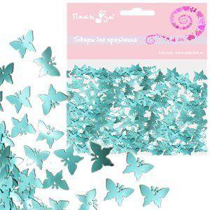 Конфетти фольгированное Бабочки синие 14гр