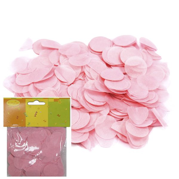 Конфетти бумажное Круги розовые 2,5см 14гр