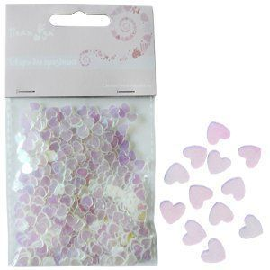 Конфетти перламутровое Сердца розовое ассорти 14гр