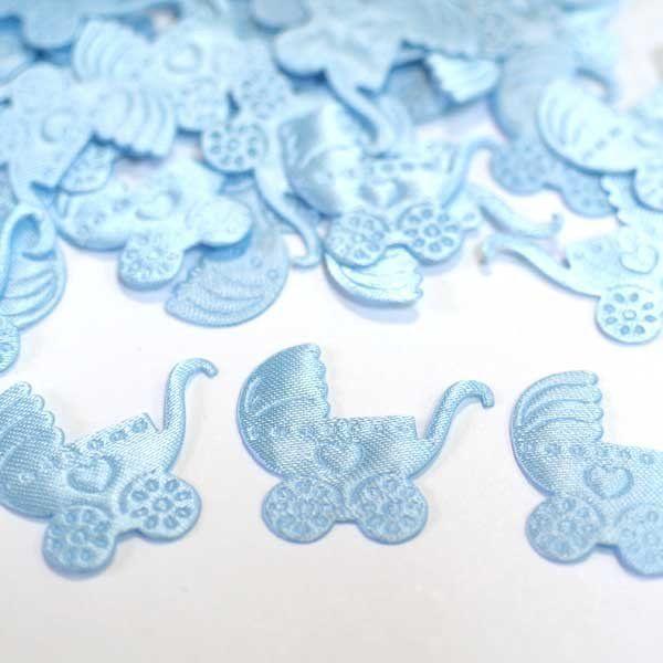 Конфетти атласное Коляска голубая
