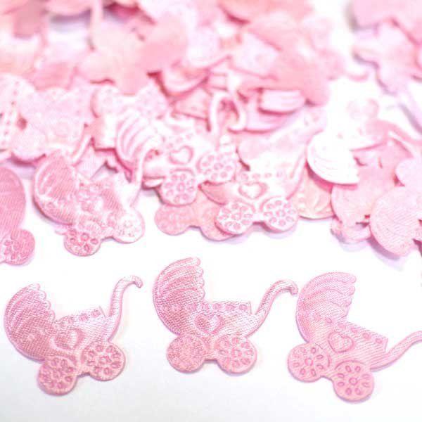 Конфетти атласное Коляска розовая