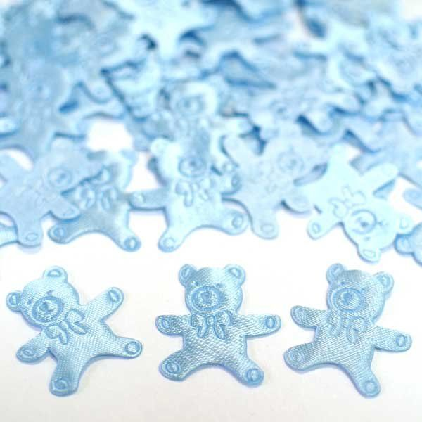 Конфетти атласное Медвежонок голубой