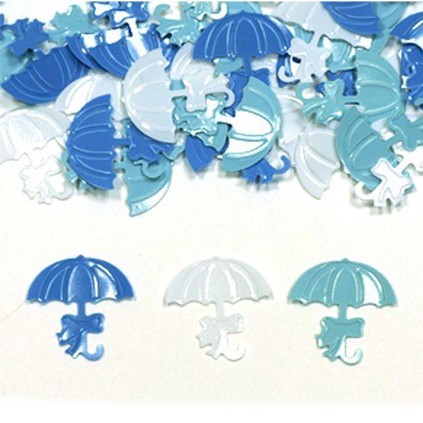 Конфетти пластиковое Зонтики голубые ассорти 14гр