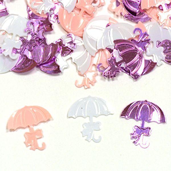 Конфетти пластиковое Зонтики розовые ассорти 14гр