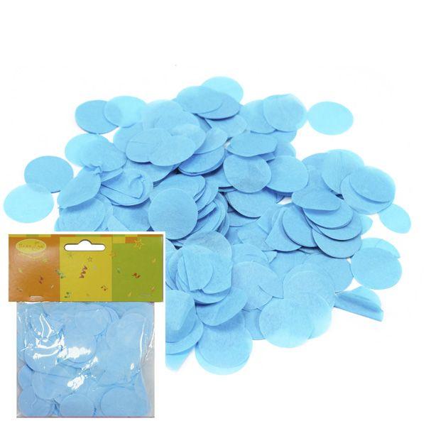 Конфетти бумажное Круги голубые 2,5см 14гр