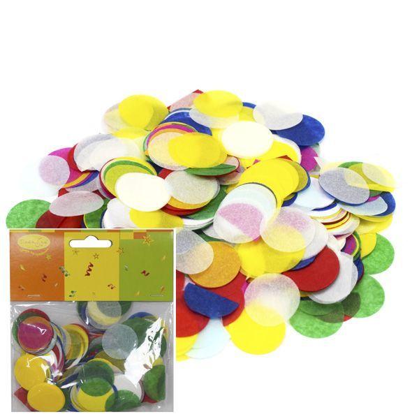 Конфетти бумажное Круги разноцветные пастельные 2,5см 14гр